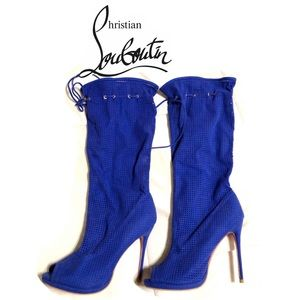 Christian louboutin calf high boots